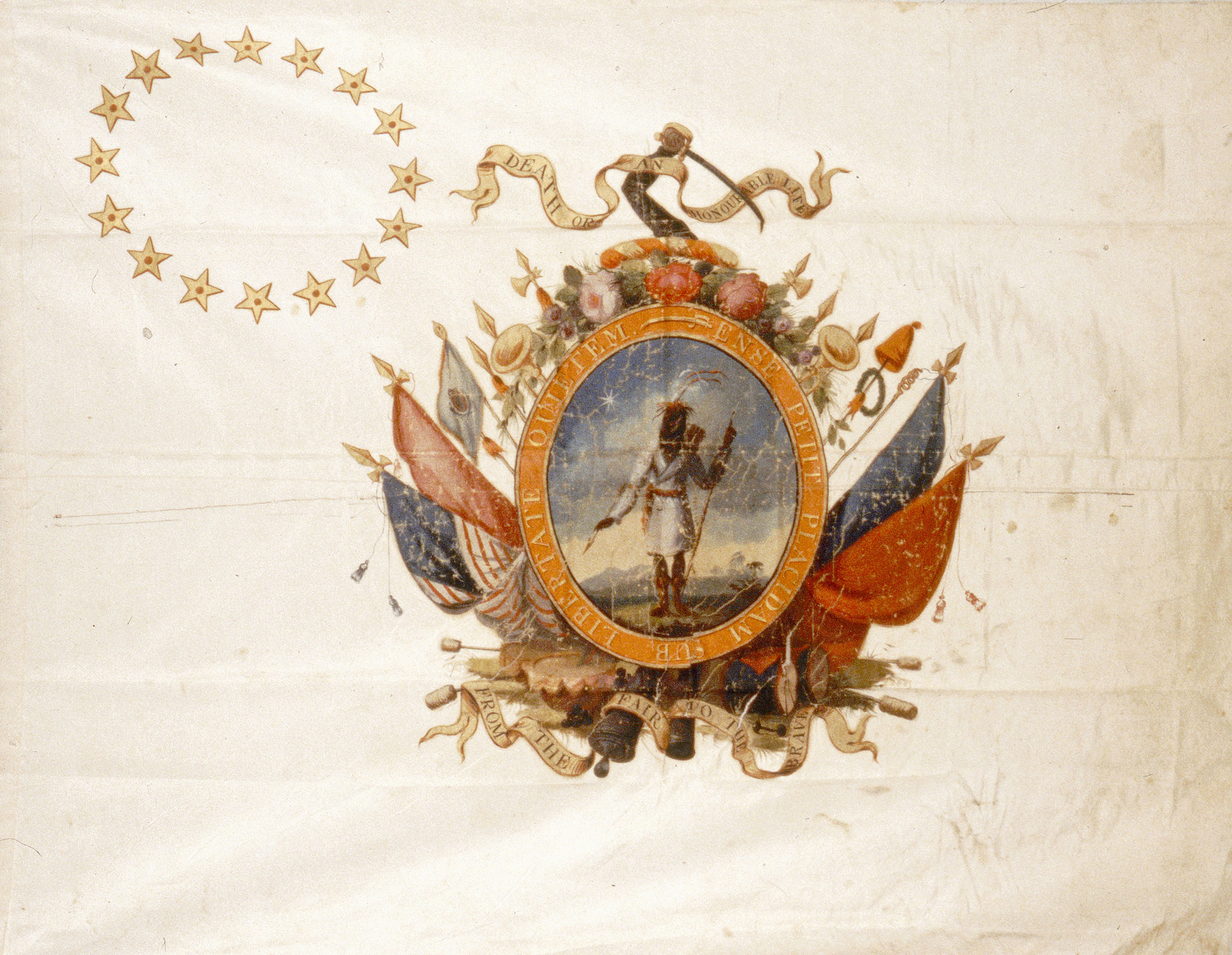 Unidentified artist, Stroudwater Light Infantry Company banner, 1805