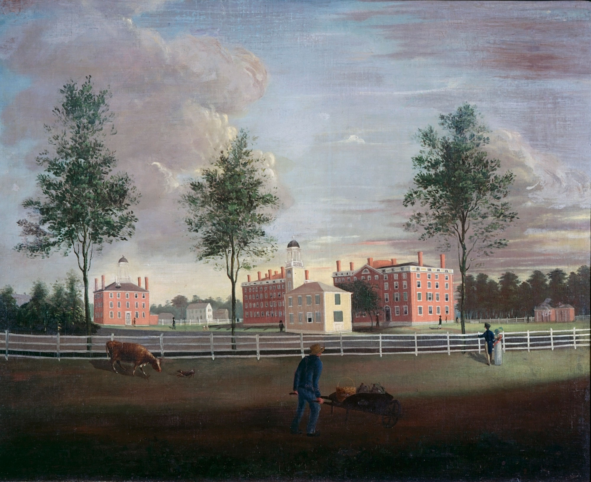 John G. Brown, Southwest View of Bowdoin College, circa 1823