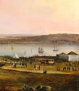 Detail, Entertainment of the Boston Rifle Rangers by the Portland Rifle Club in Portland Harbor, August 12, 1829, 1830.