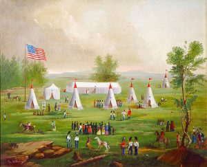 George Bailey, Portland Light Infantry Muster, ca. 1803 painted in 1846
