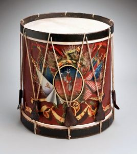Probably painted by Charles Hubbard, side drum, 1824