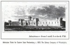 Admission ticket for Eastern State Penitentiary, c. 1835