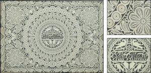 "The John Poulson Cutwork. Cutwork inscribed in filigree in center ""John Poulson"""