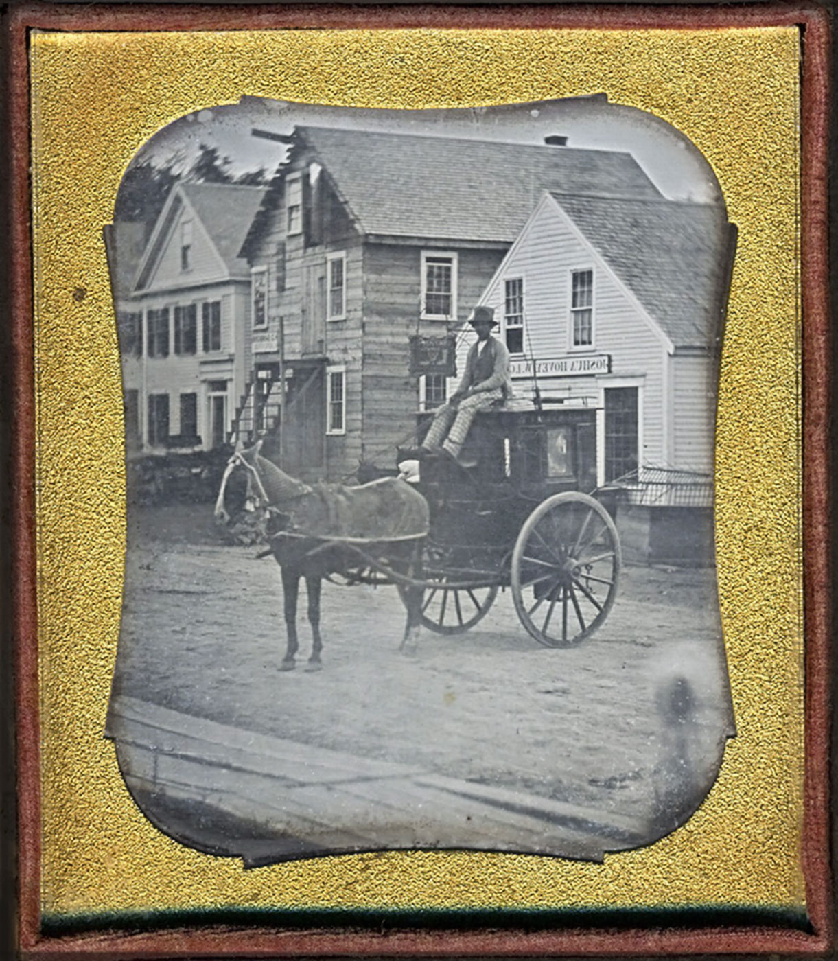 Unidentified photographer, American. Joshua Hovey, shoemaker and grocer of Dracut and Lowell, Massachusetts, ca. 1847
