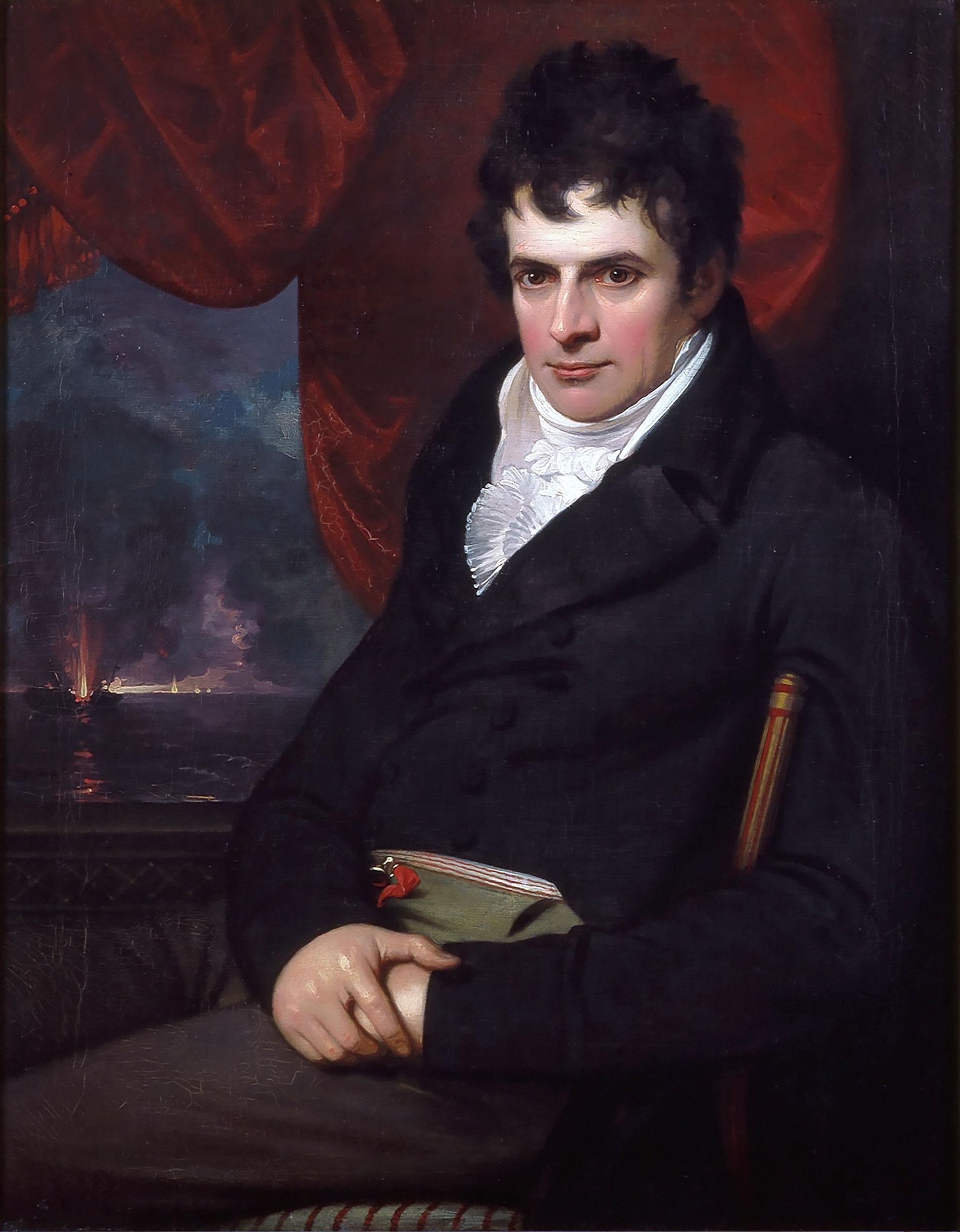Benjamin West, American, 1738-1820, Robert Fulton, 1806, London, England.