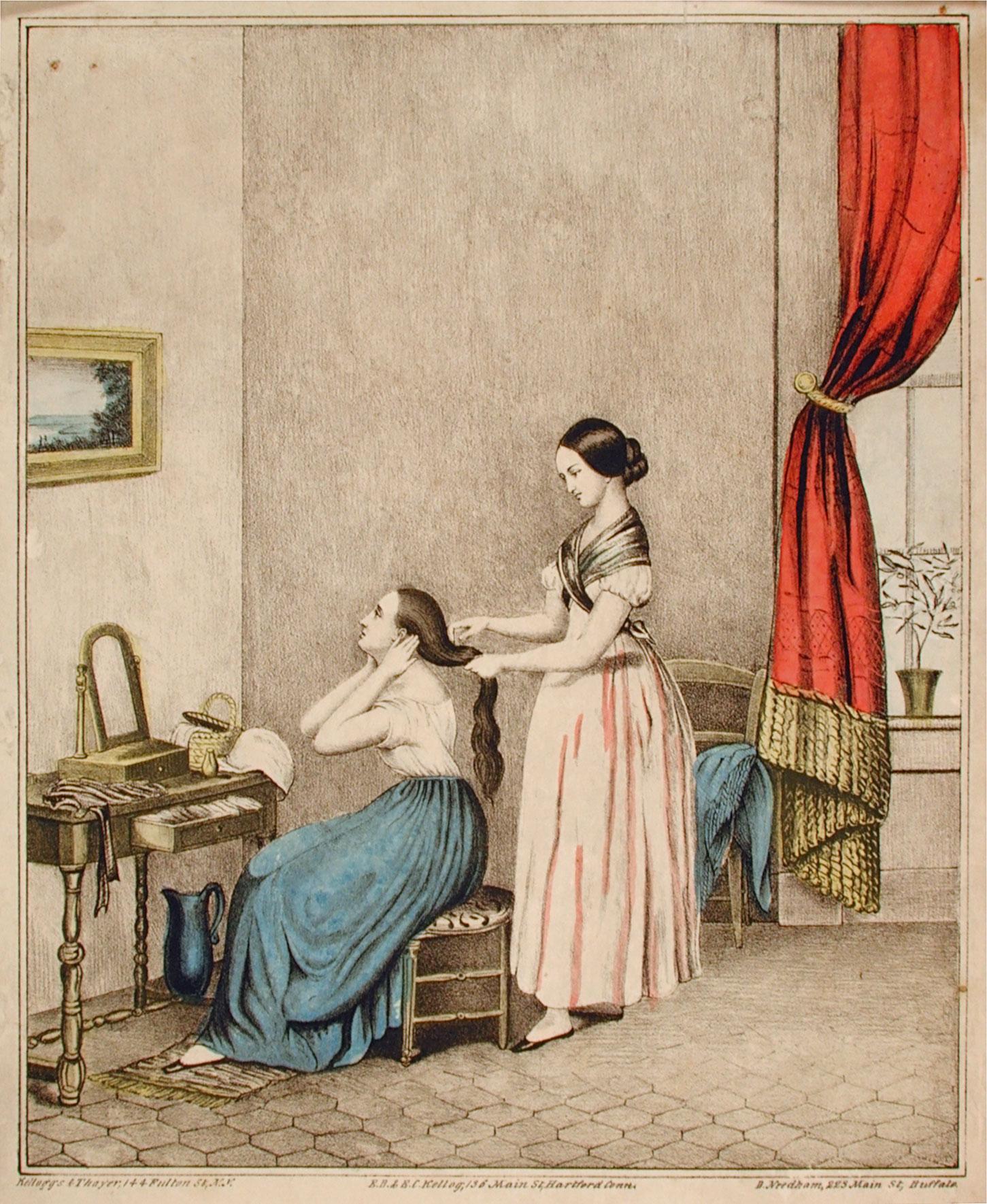 The Toilet, E. B. & E. C. Kellogg, Hartford, Connecticut, 1845