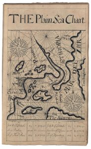 Thomas Earl, The Plain Sea Chart, from his 1727 copybook.