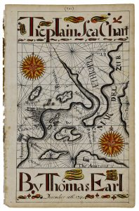 Thomas Earl, The Plain Sea Chart, from his 1740/41 copybook, page 781.