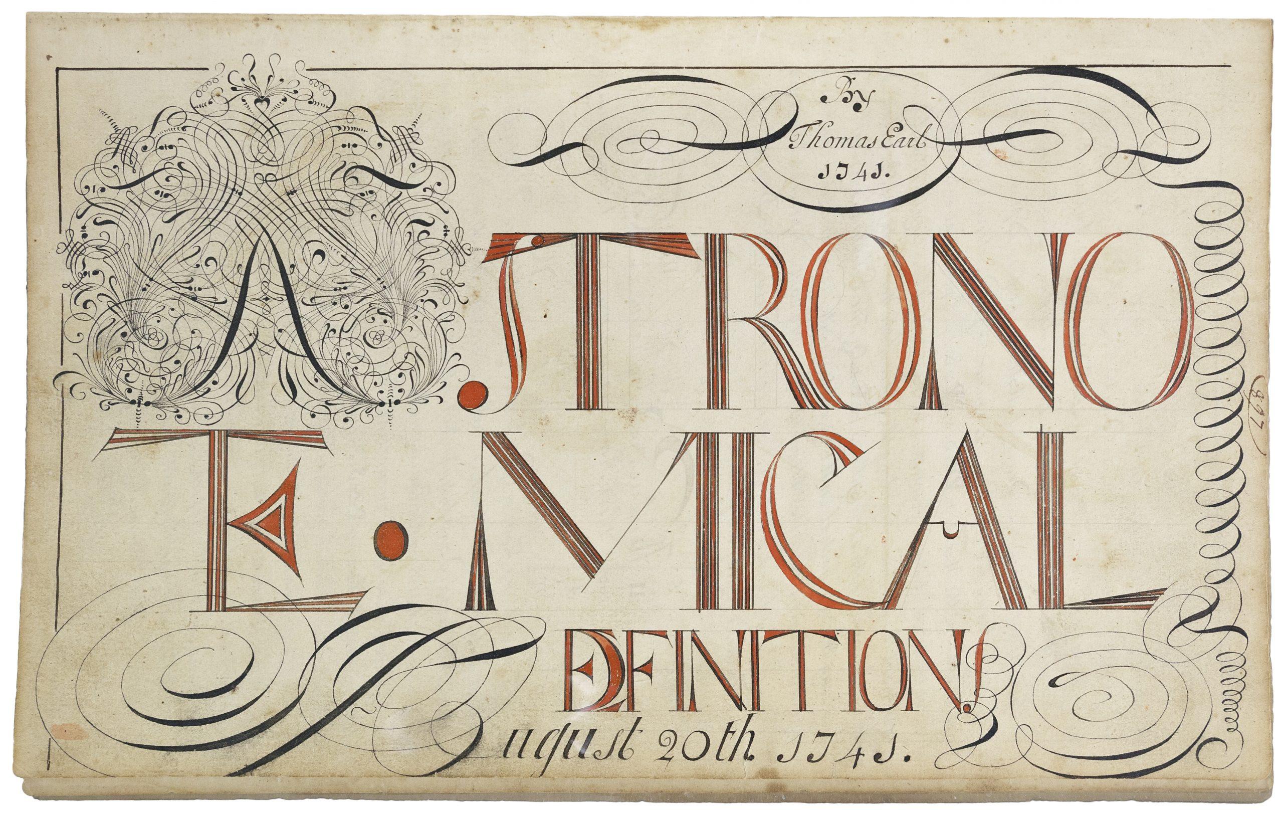 Thomas Earl, Astronomical Definition