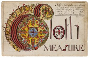 Thomas Earl, Cloth Measure, from his 1740/41 copybook, page 129.