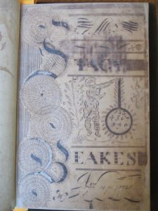 Stacy Beakes, Mathematical Notebook, Title page.