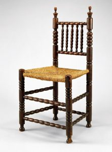 Side chair, New York or New Jersey, 1660–1700, Cherry with unknown secondary woods