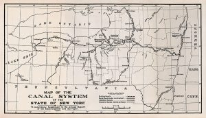 Map of the Canal System of the State of New York