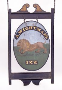Sign for Wightman's Inn, ca. 1815-1824, Waterford, Connecticut (Quaker Hill section)