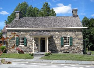 """""""Fort Decker/Old Stone House,"""" Port Jervis, New York, rebuilt in 1793, present location of the Minisink Valley Historical Society"""