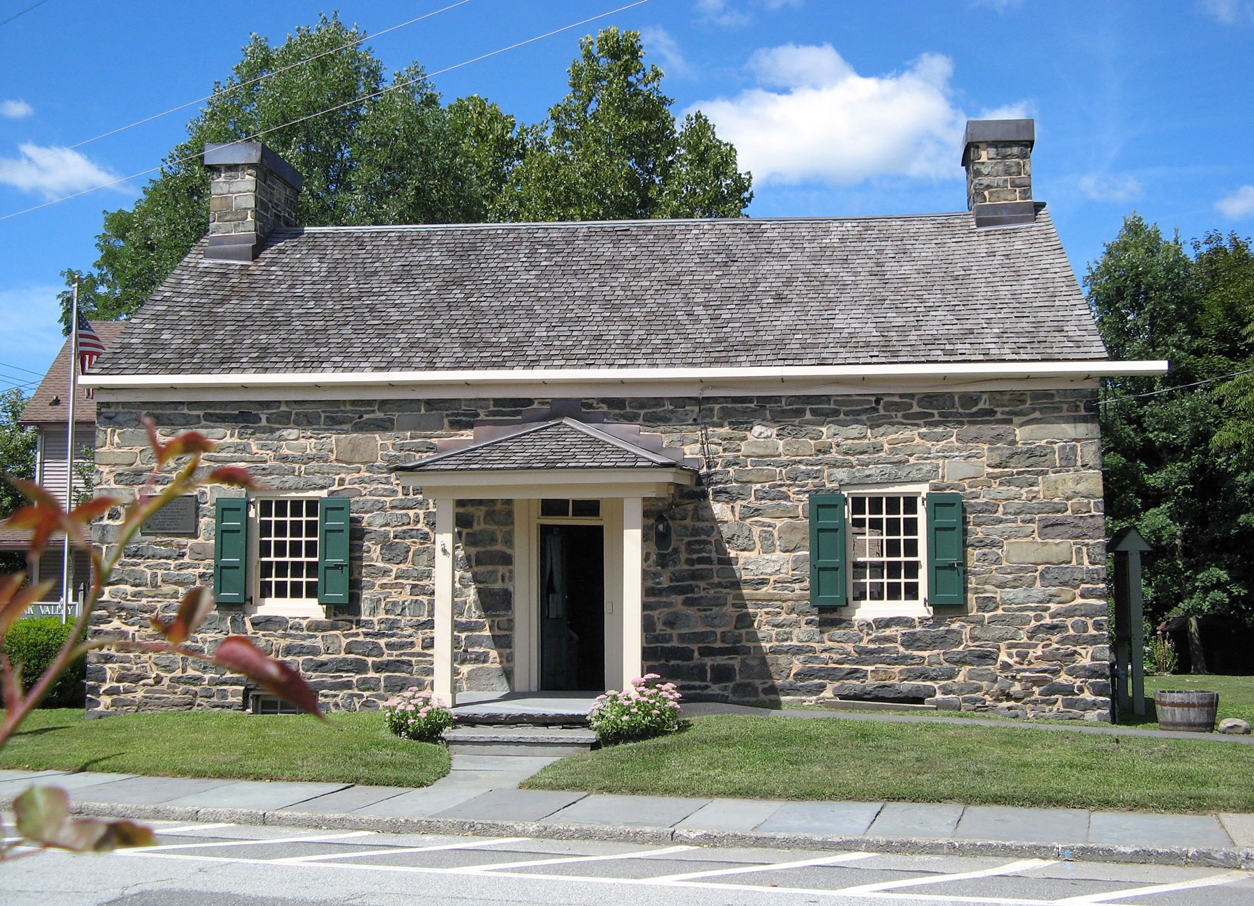 """""""Fort Decker/Old Stone House,"""" Port Jervis, New York, rebuilt in 1793, present location of the Minisink Valley Historical Society. Photograph courtesy of the Minisink Valley Historical Society."""