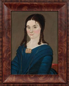 William Matthew Prior (American, 1806-1873), Portrait of a Young Woman with Cameo Brooch, New England, ca. 1835
