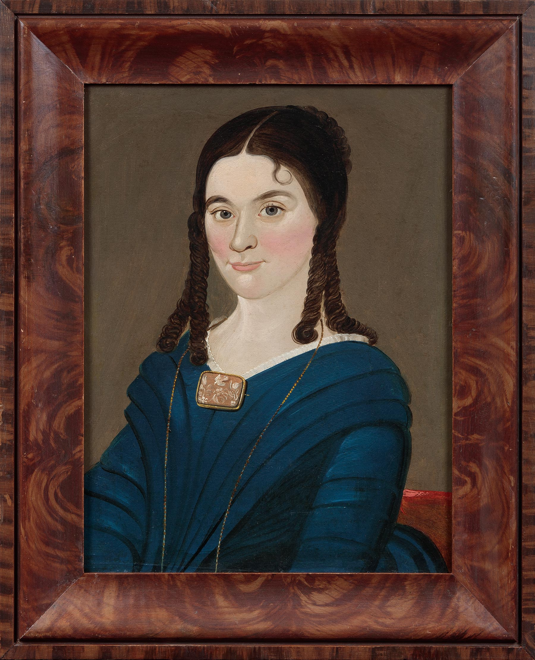 William Matthew Prior (American, 1806-1873), Portrait of a Young Woman with Cameo Brooch, New England, ca. 1835. Oil on canvas. Photograph courtesy David A. Schorsch and Eileen M. Smiles, Woodbury, Connecticut.