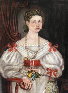 Asahel Powers (1813–1843), Portrait of Eliza Ann Farrar, New Hampshire, ca. 1834-1835
