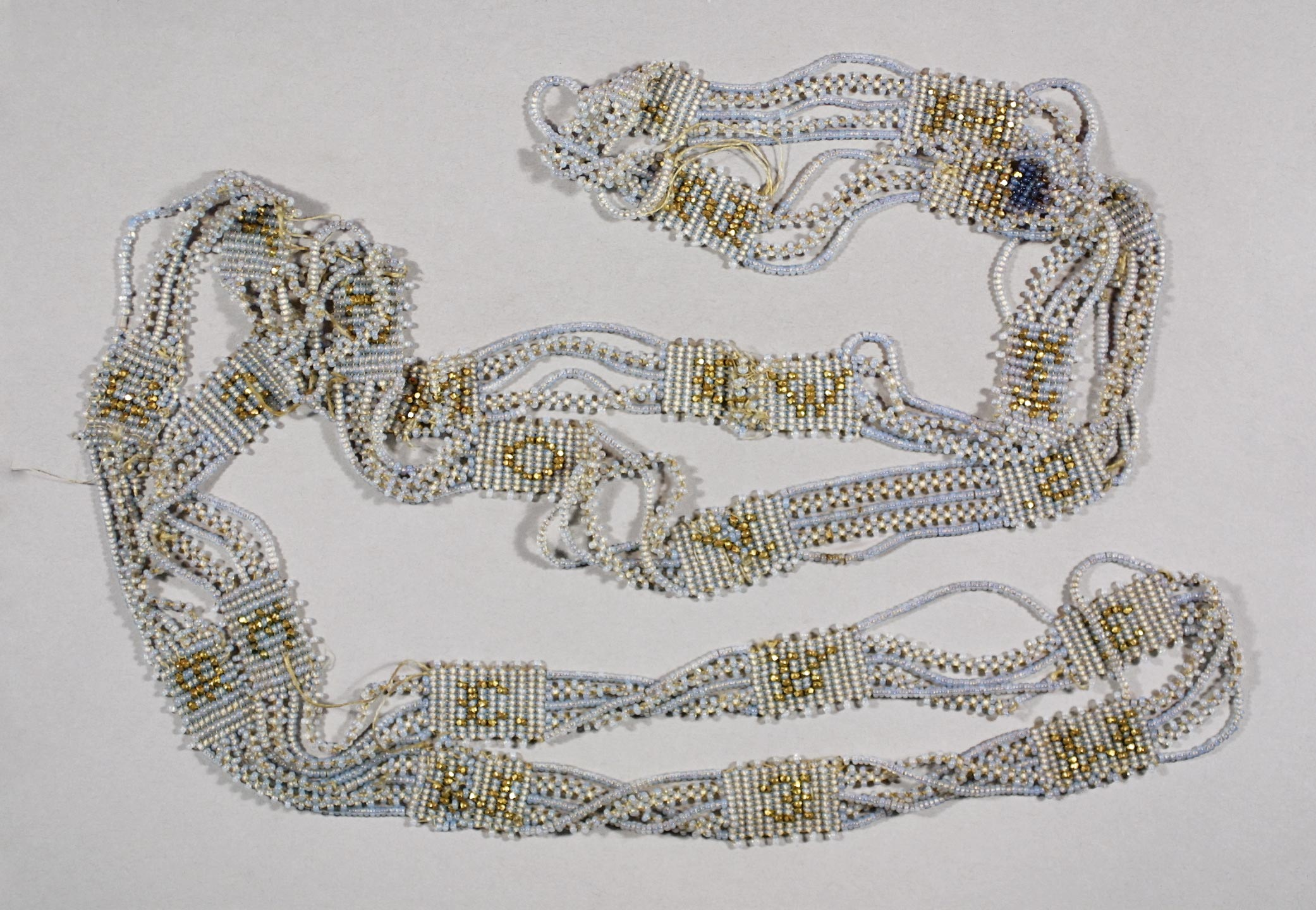 Beaded chain, New England, ca. 1830–1840. Glass beads, ½ in. wide. Historic New England, Bequest of Katherine L. Rust, 1947.230.