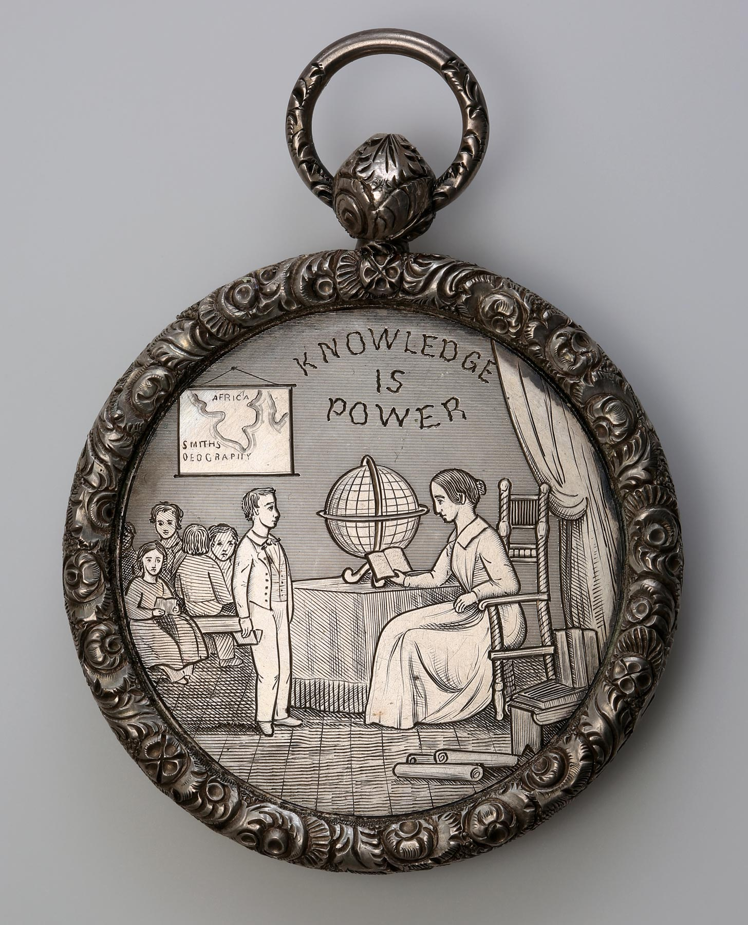 Ridgway Medal, New York, 1855. Engraved and moulded white metal. Private Collection.
