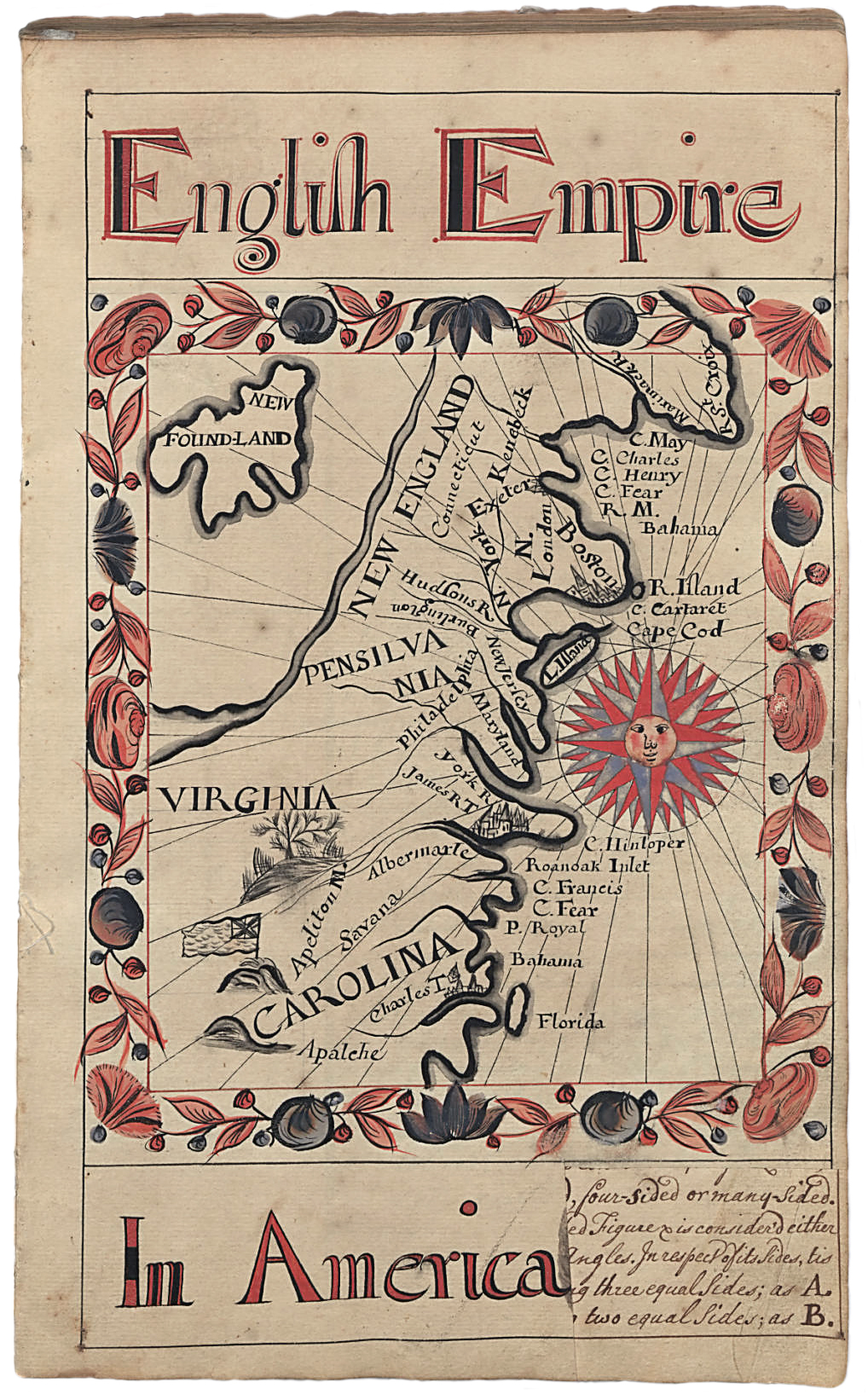 Thomas Earl, English Empire, from his 1727 copybook